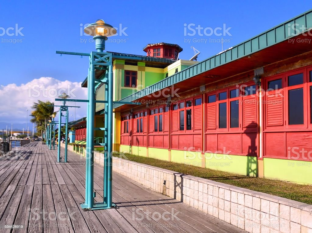 La Guancha Boardwalk along  Ponce, Puerto Rico stock photo
