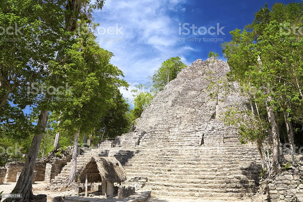 La Iglesia (The Church) Pyramid, Coba royalty-free stock photo