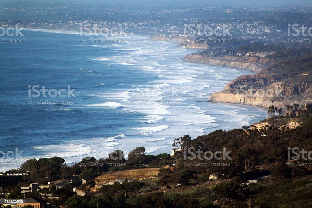 La Jolla and Del Mar Coast stock photo