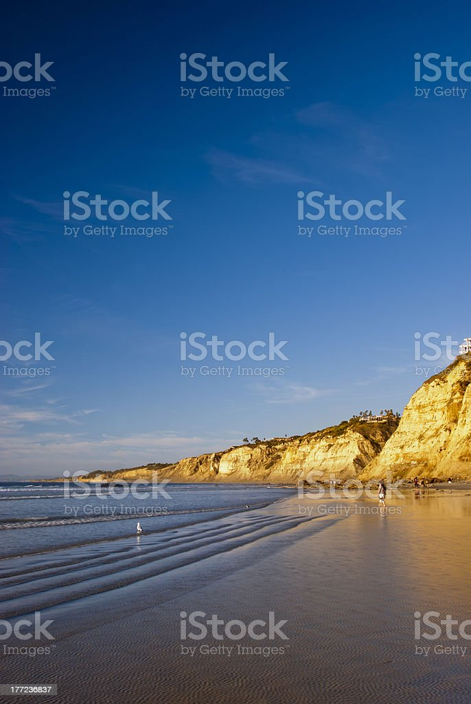 La Jolla Beach at Sunset stock photo