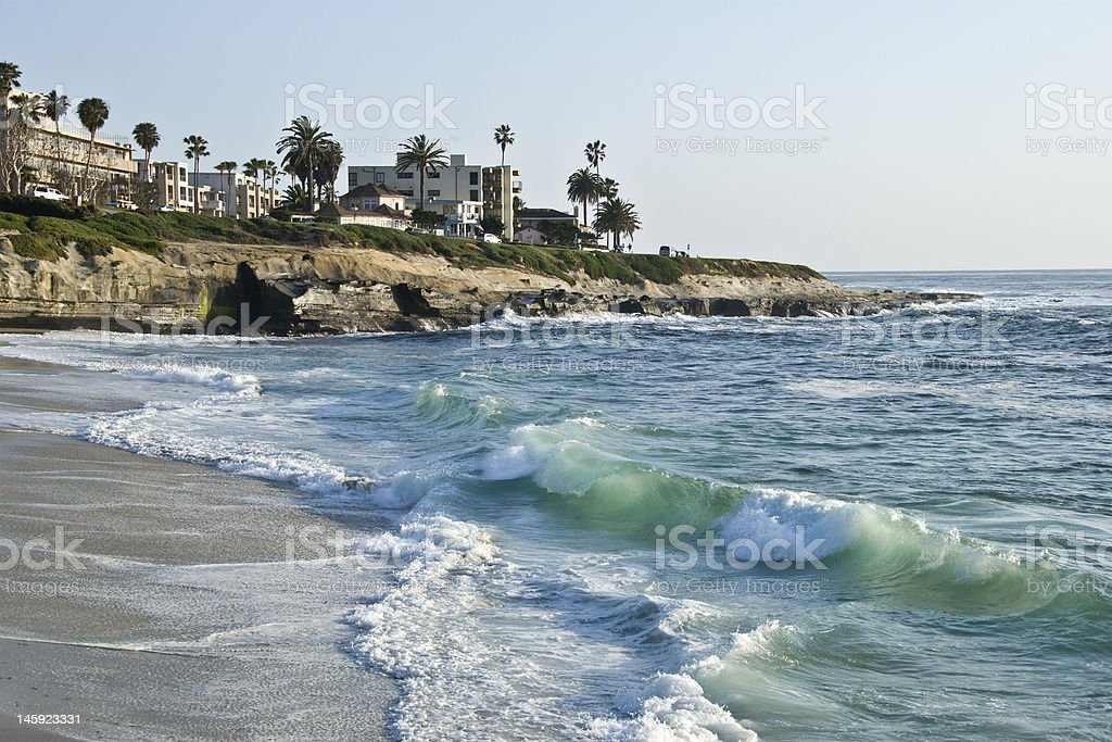 La Jolla beach, California stock photo
