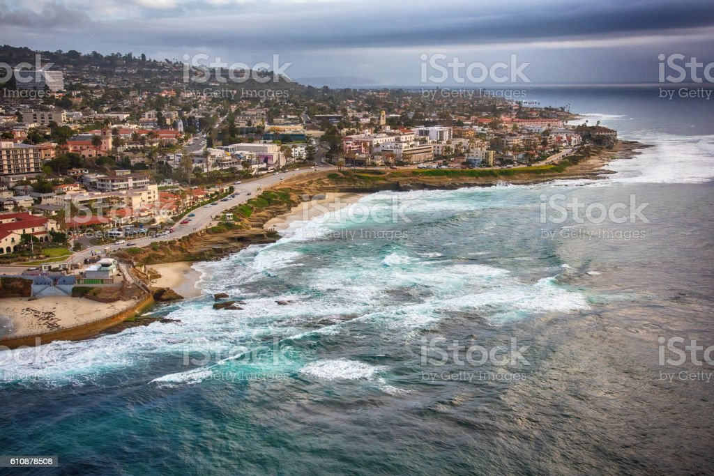 La Jolla California Aerial stock photo