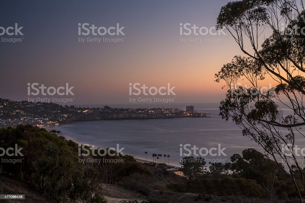 La Jolla California at Dusk stock photo