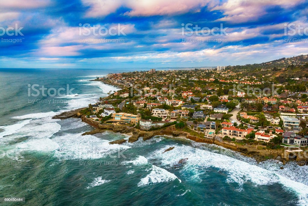 La Jolla Coast Aerial stock photo