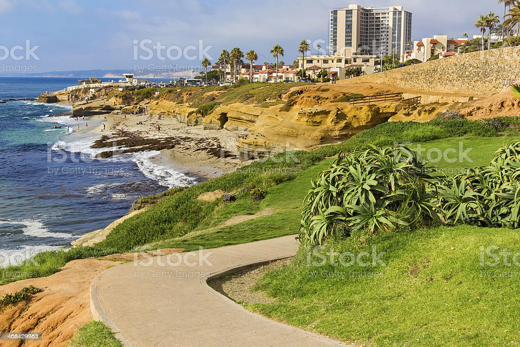 La Jolla coastline, CA (P) stock photo
