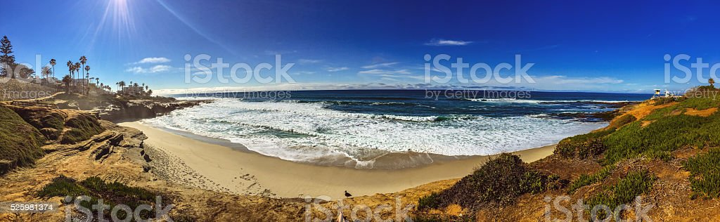 La Jolla coastline, California, USA stock photo