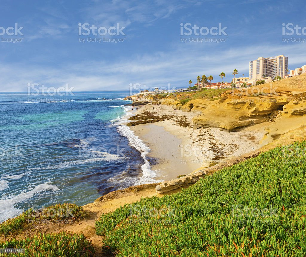 La Jolla coastline in Southern California (P) stock photo