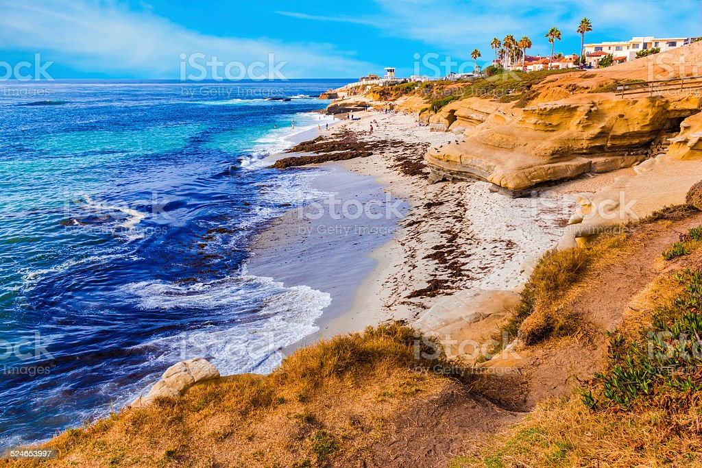 La Jolla coastline in Southern California,San Diego (P) stock photo