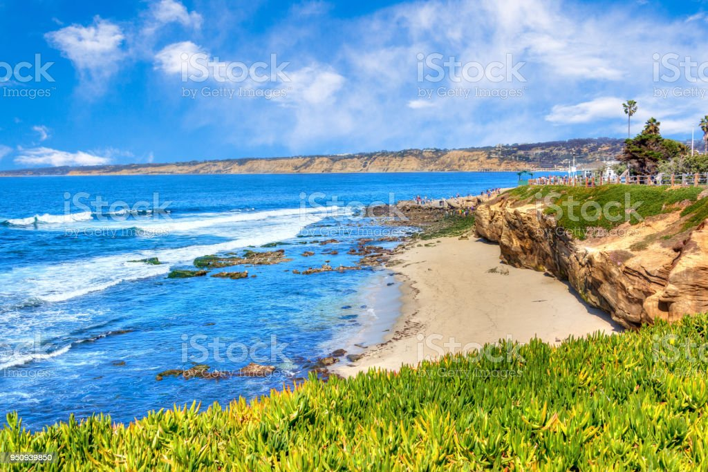 La Jolla Cove in San Diego, Southern California stock photo