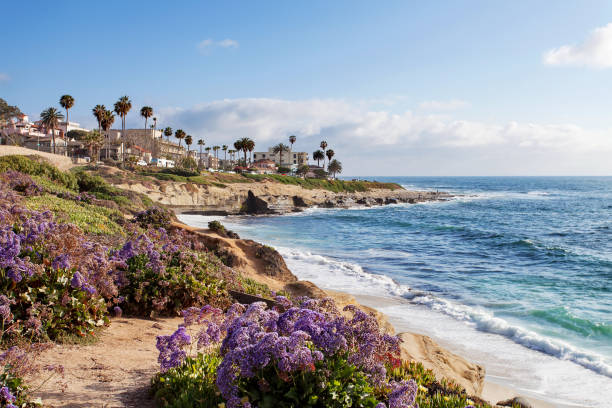 La Jolla - Southern California, United States of America Southern California, United States of America bay of water stock pictures, royalty-free photos & images
