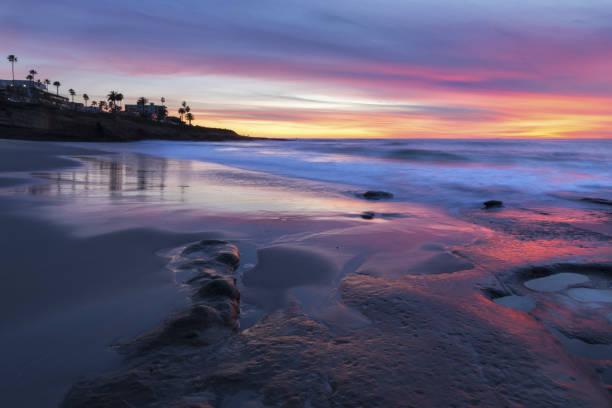 La Jolla Sunset San Diego California stock photo