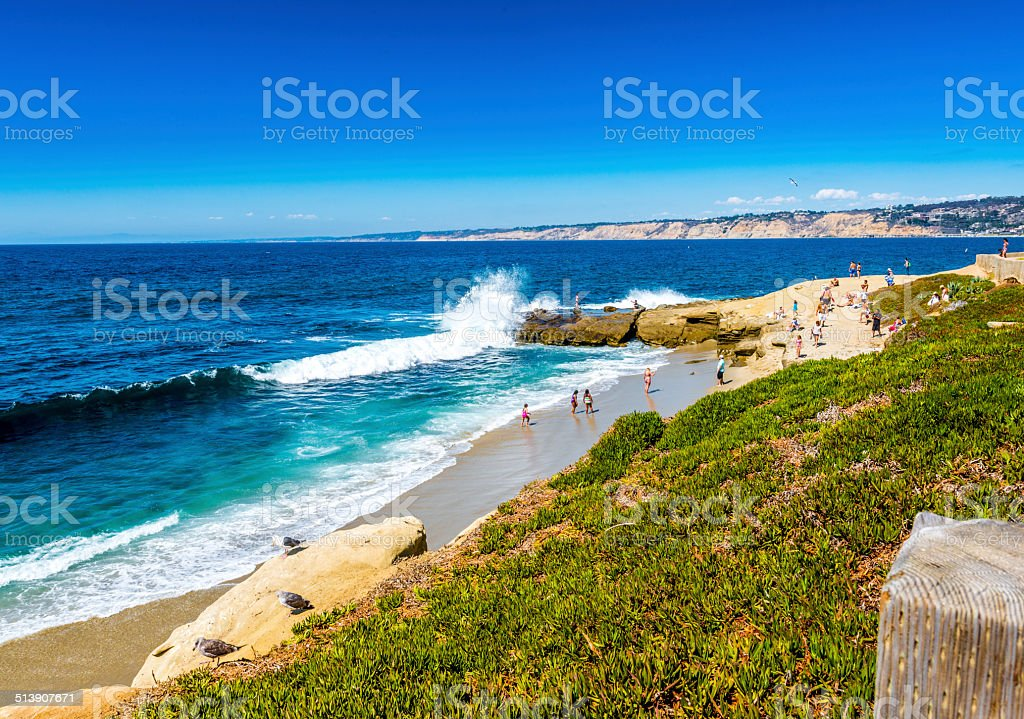 La Jolla Wave Crash stock photo