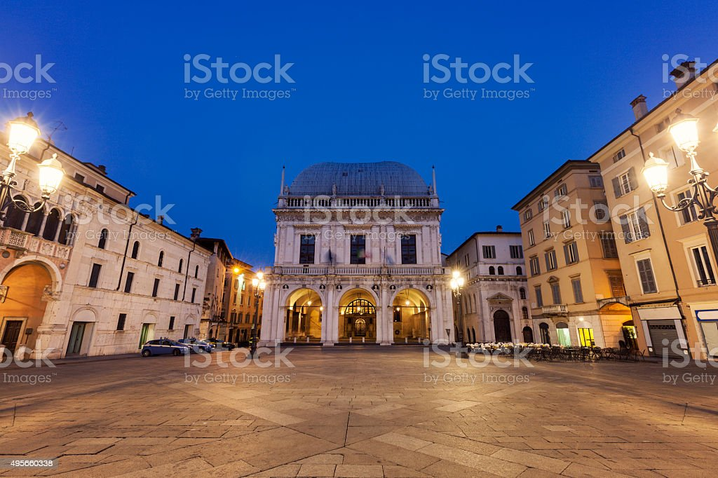 La Loggia (Municipio) a Brescia - foto stock