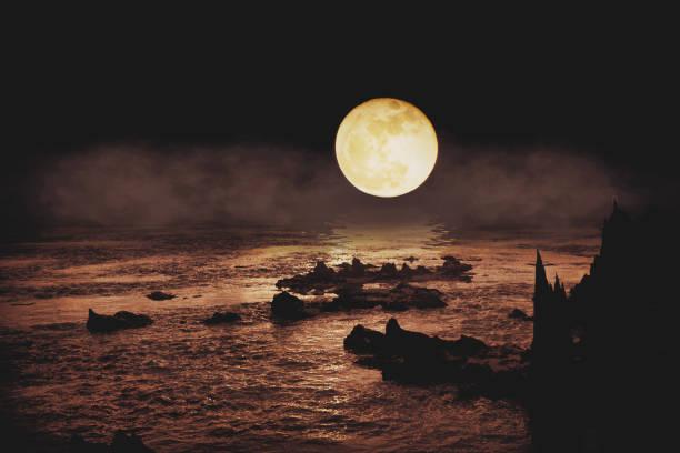 la Luna bianca - foto stock