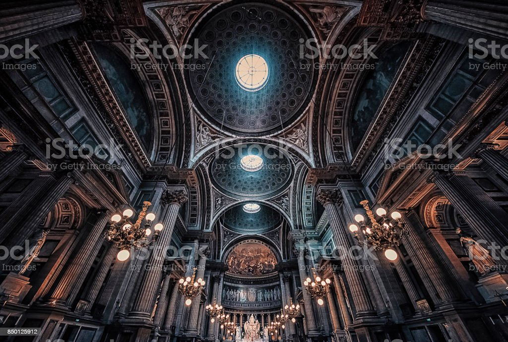 La Madelaine church in Paris stock photo