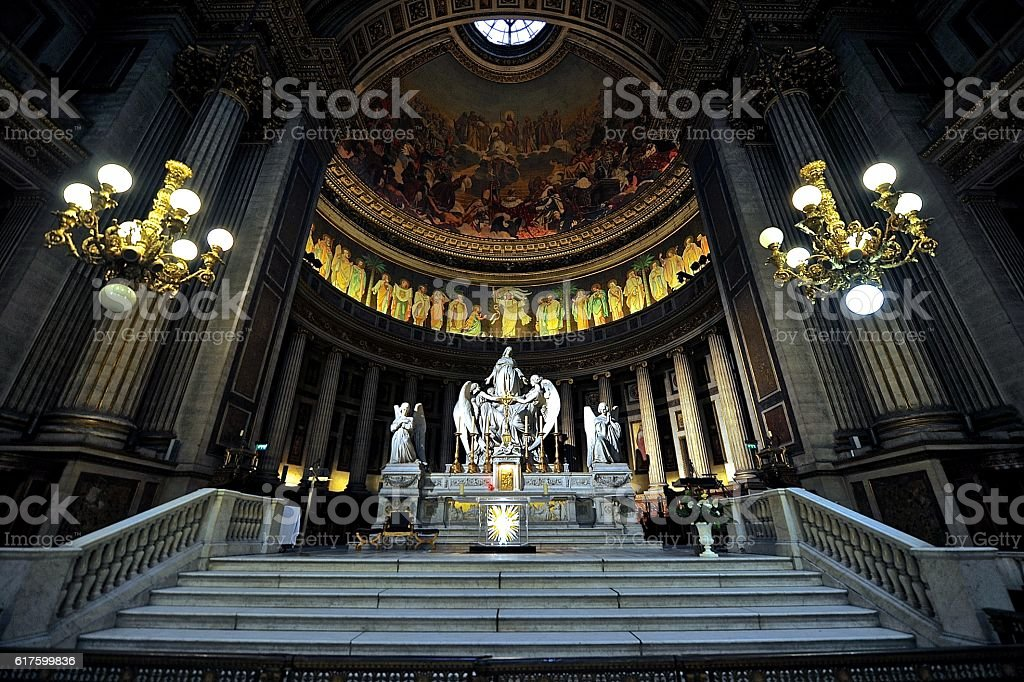 La Madeleine Church Altar Paris stock photo