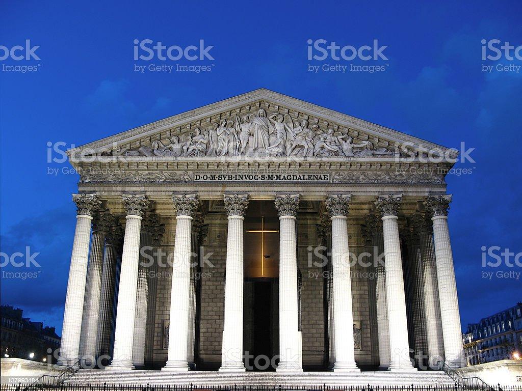La Madeleine Church, Paris, France stock photo