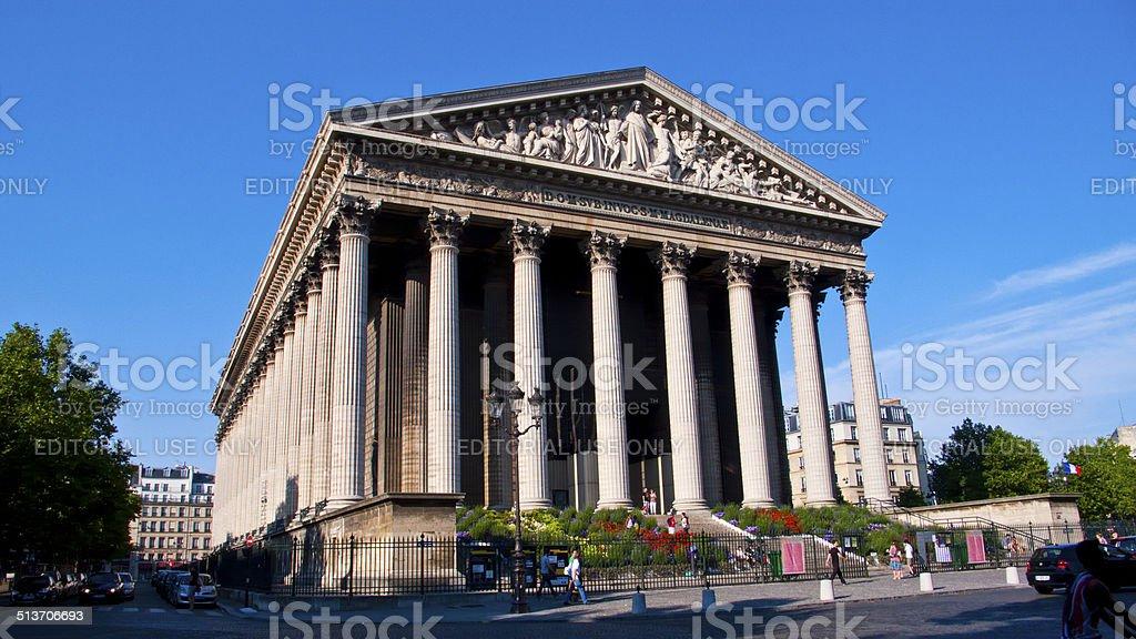 La Madeleine Church. Paris. France. stock photo