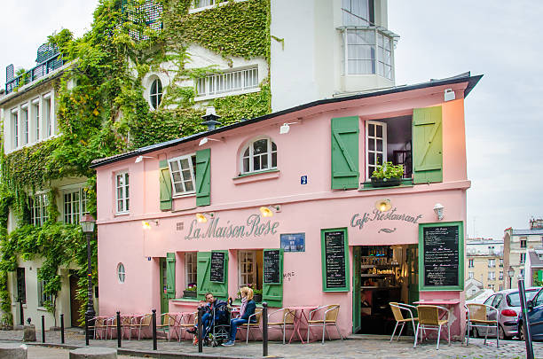 La Maison Rose Restaurant in Paris stock photo