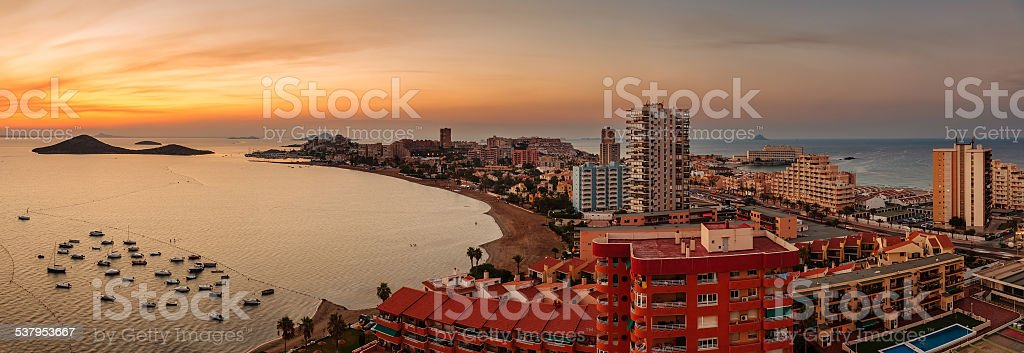 La Manga del Mar Menor Skyline, Murcia, Spain stock photo