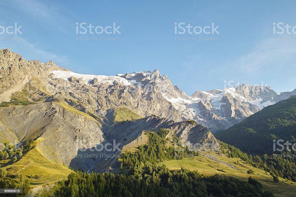 Berg La Meije am Abend Alpen Ecrins – Foto