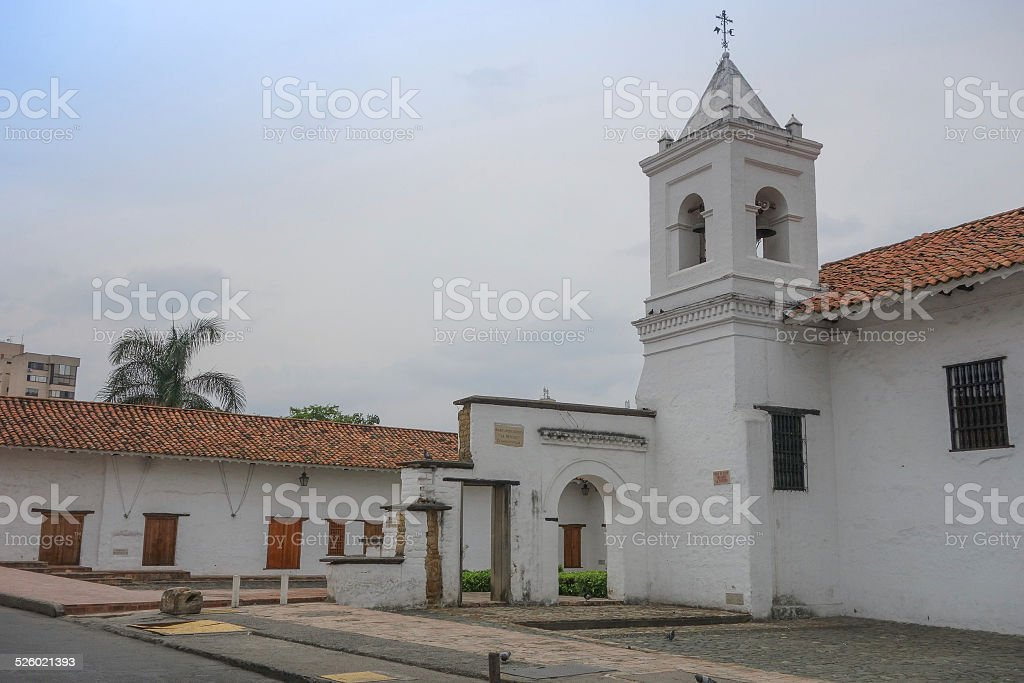 La Merced church in Cali stock photo