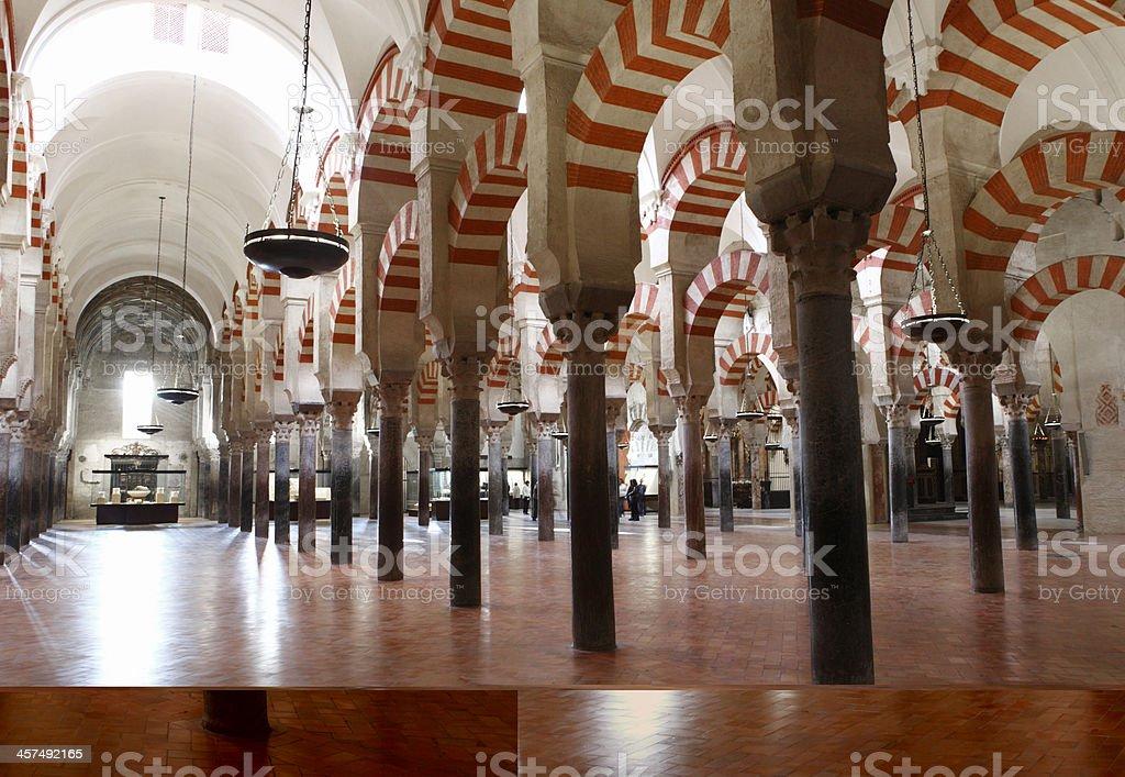 La Mesquita Interior stock photo