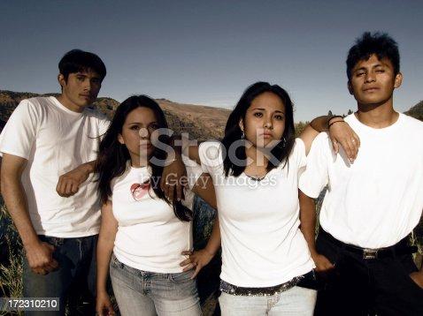 A band of beautiful Latin youth.