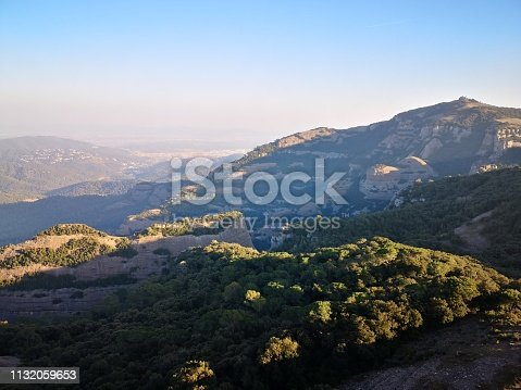 View of La Mola mountain in Sant Llorenç del Munt Natural Park
