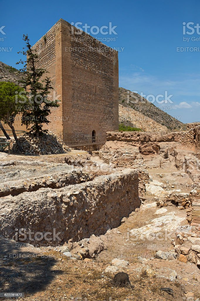 La Mola's Castle - Novelda - Spain stock photo