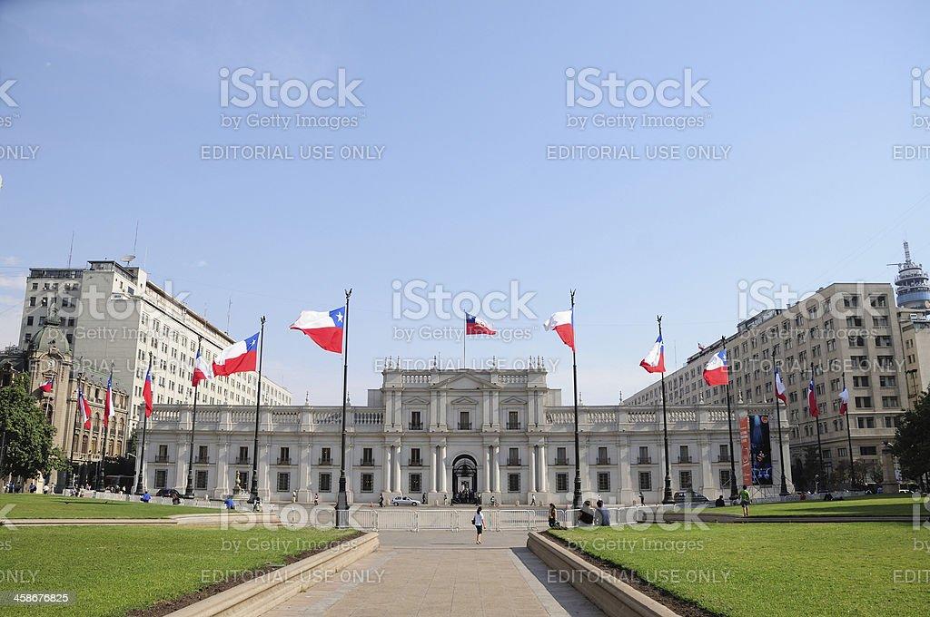 La Moneda Palace, Chile stock photo