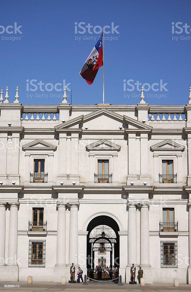 La Moneda, Presidential Palace stock photo