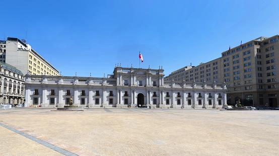 La Moneda - seat of the Chilean president in Santiago de Chile