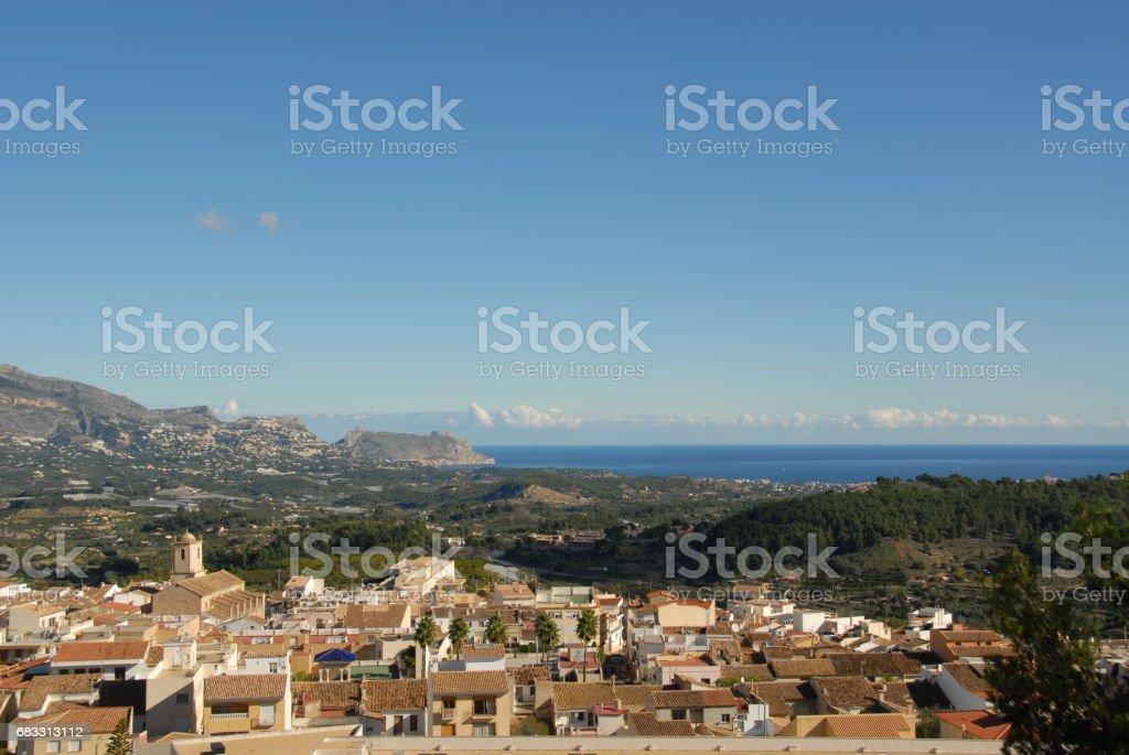 La Nucia - Costa Blanca - Spanien foto stock royalty-free