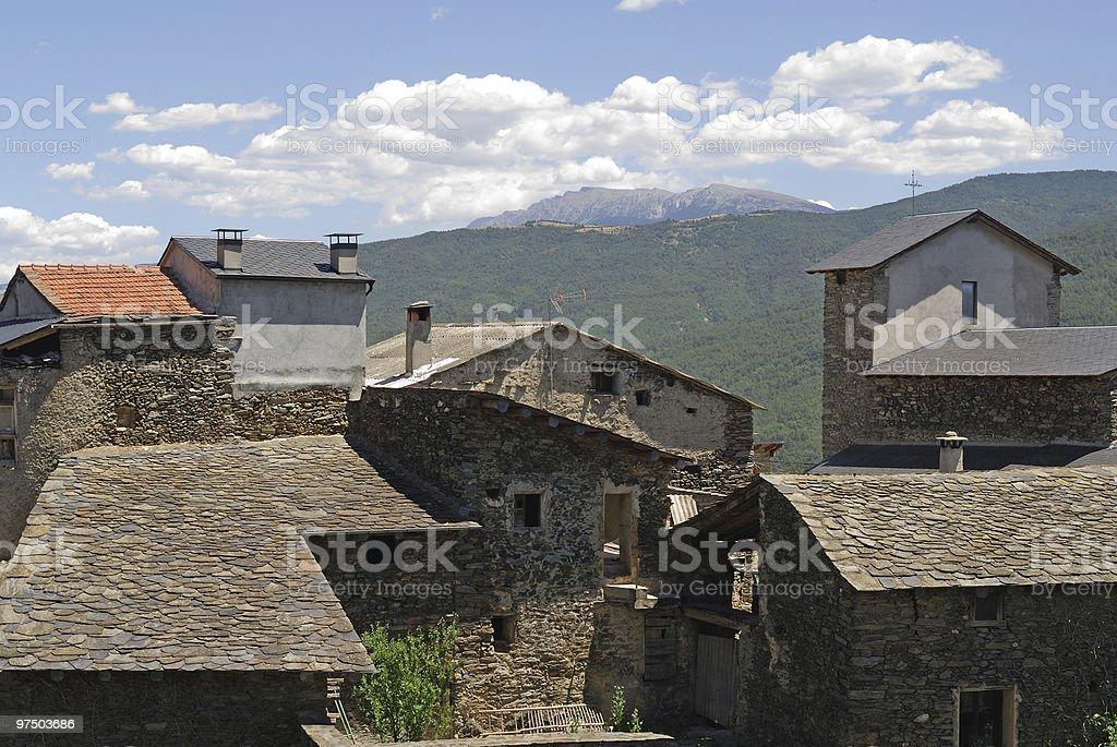 La Parroquia d'Hortò, little village in Spanish Pyrenees royalty-free stock photo