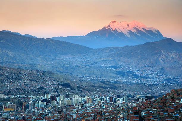 La Paz bei Sonnenuntergang – Foto