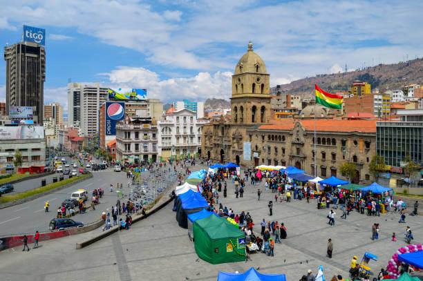 La Paz, Bolivia cityscape stock photo