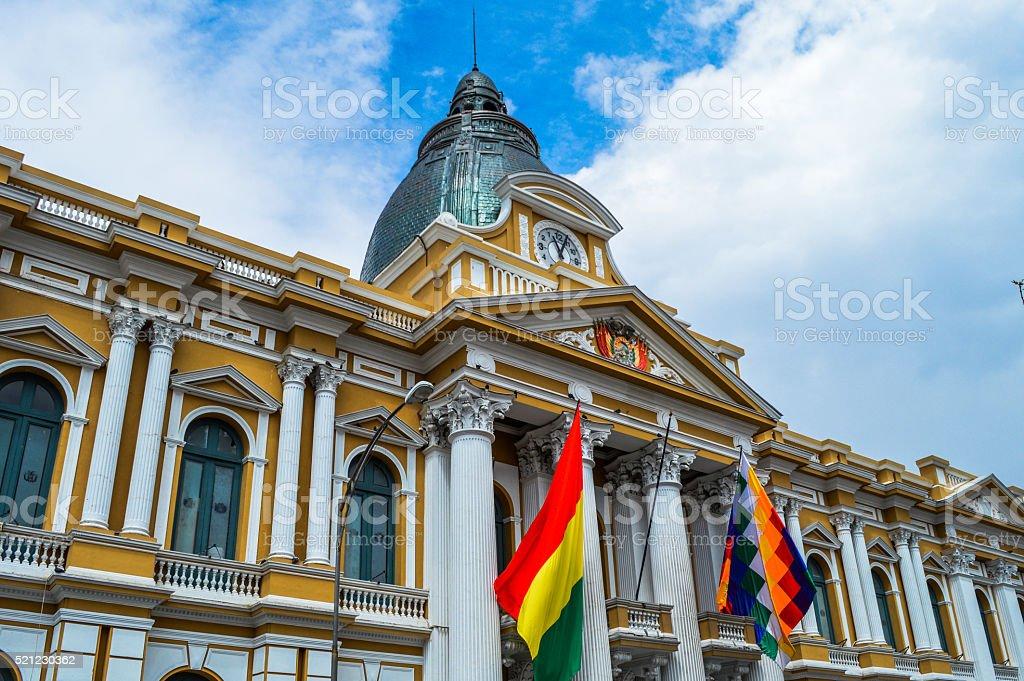 La Paz, Bolivia, Gobierno palacio en La Plaza Murillo - foto de stock
