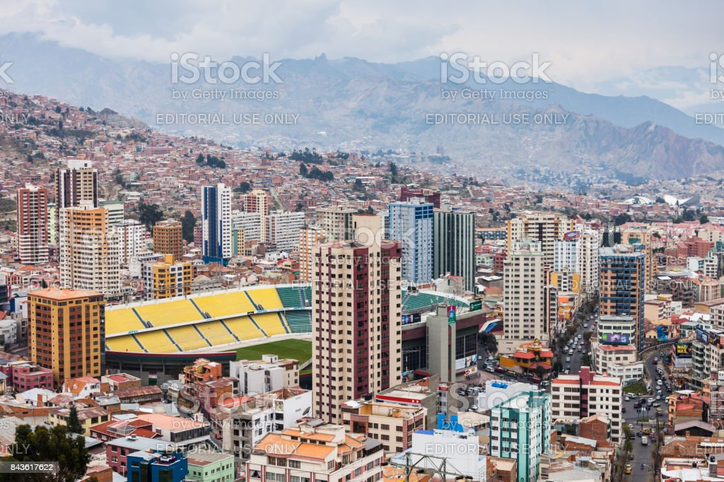 La Paz, Bolivia stock photo