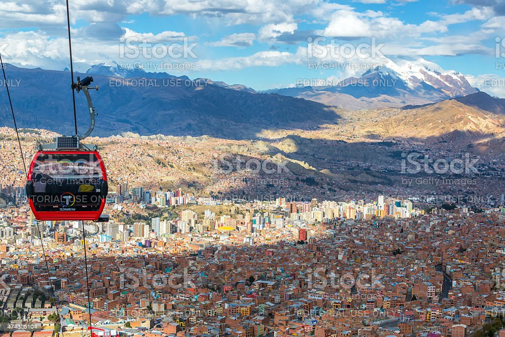 La Paz Cable Car stock photo