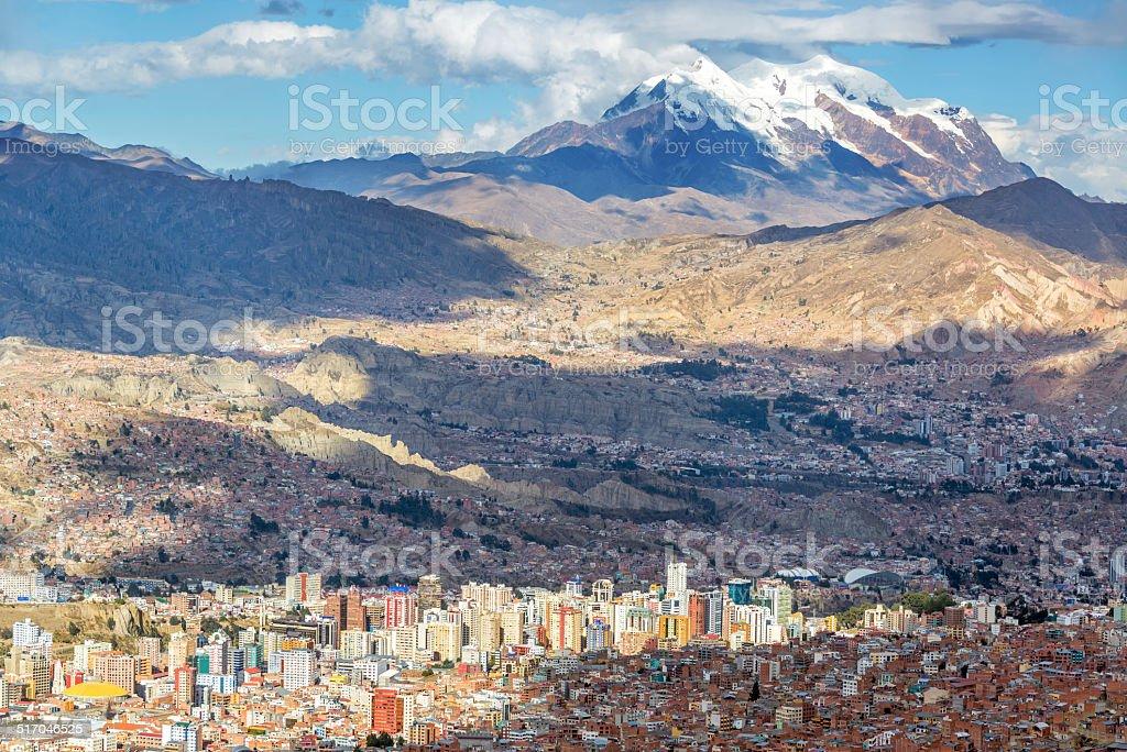 La Paz Cityscape stock photo