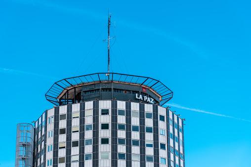 La Paz Hospital main building in Madrid