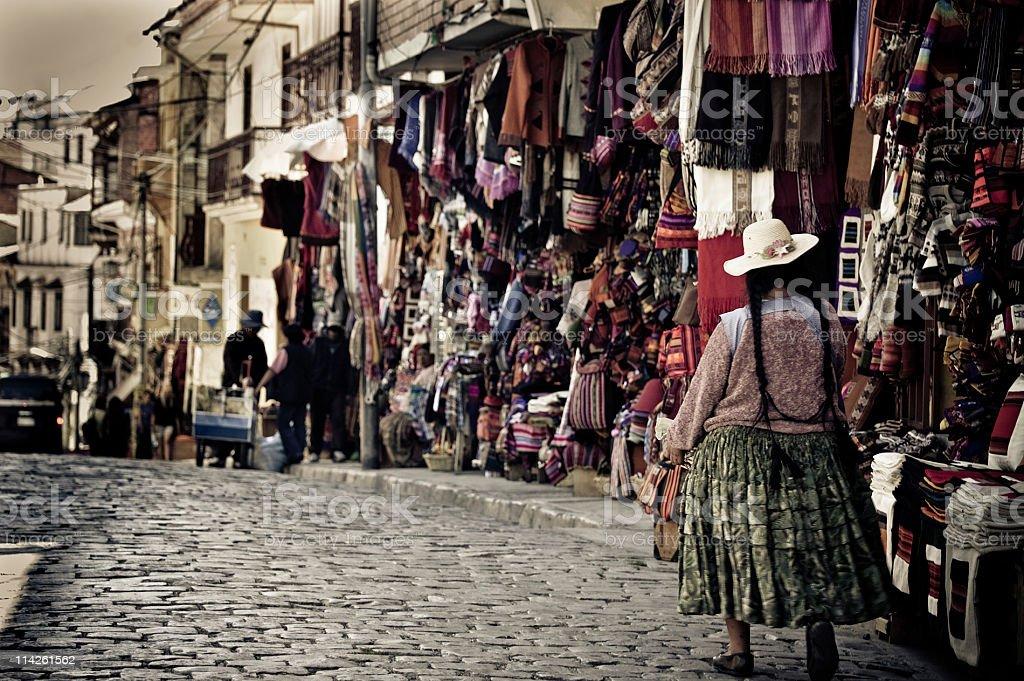 La Paz street, Bolivia stock photo