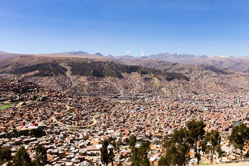 La Paz view from El Alto,Bolivia