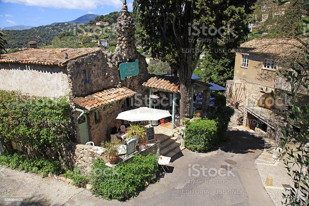 La Petite Shapelle Restaurant  in Saint Paul de Vence, France stock photo