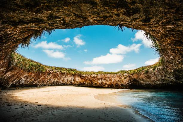 La Playa Escondida Islas Marietas Puerto Vallarta - foto de stock