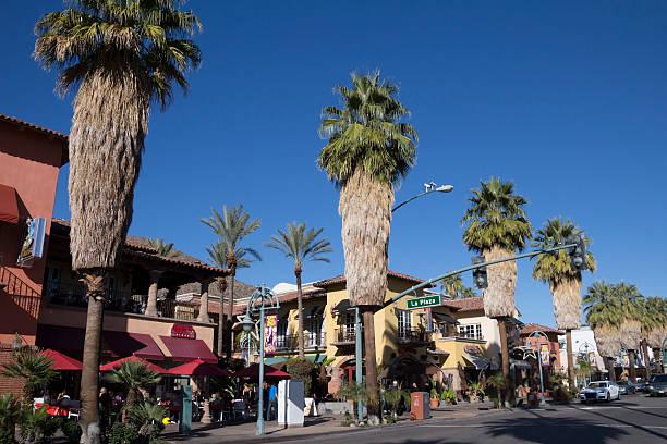 La Plaza in Palm Springs stock photo