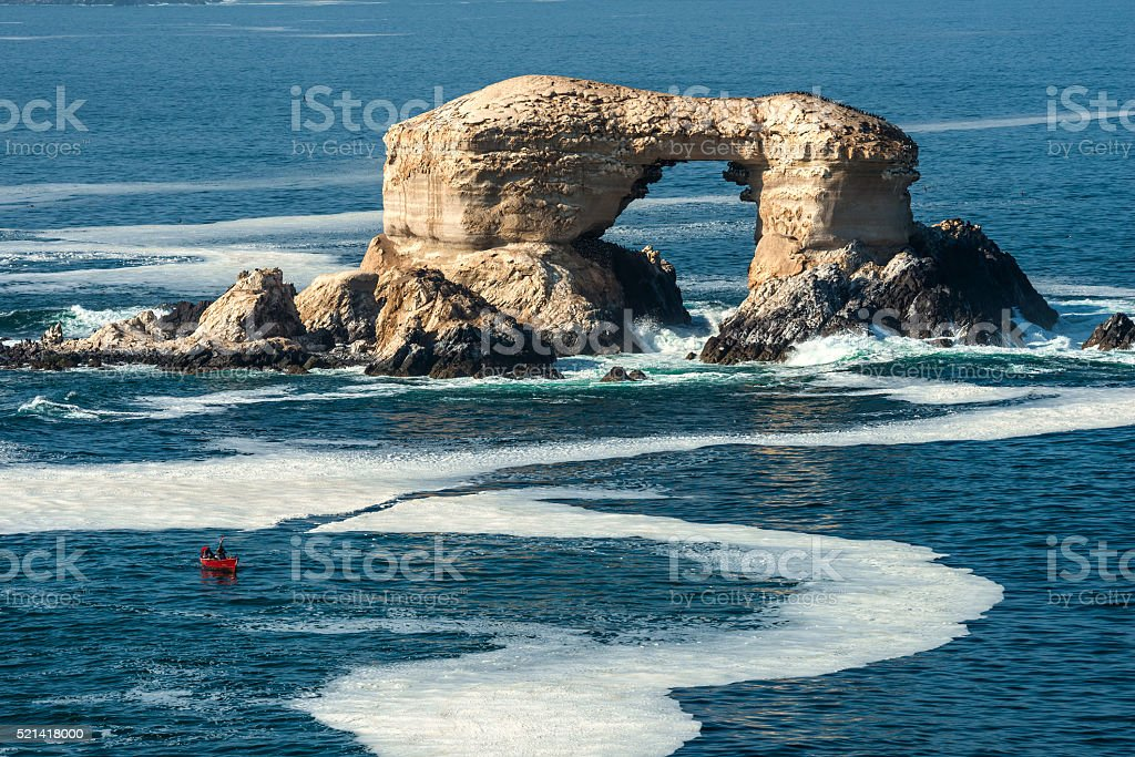 La Portada (Arch Rock) in Antofagasta, Chile stock photo