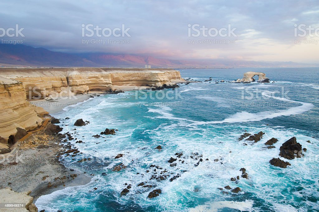 La Portada (The Gateway) near Antofagasta, Chile stock photo