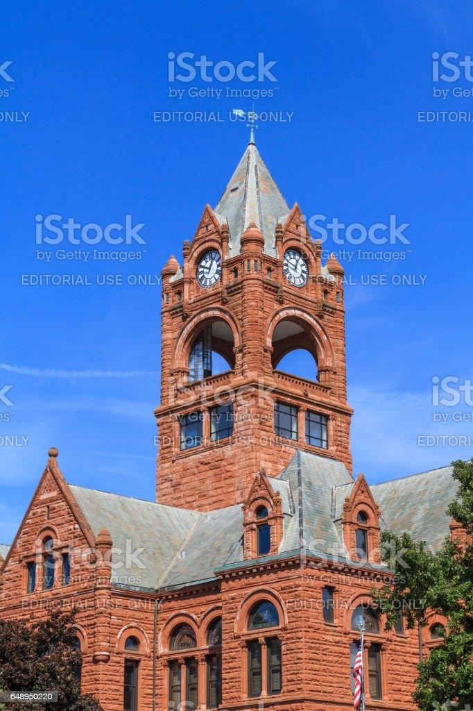 La Porte county courthouse stock photo